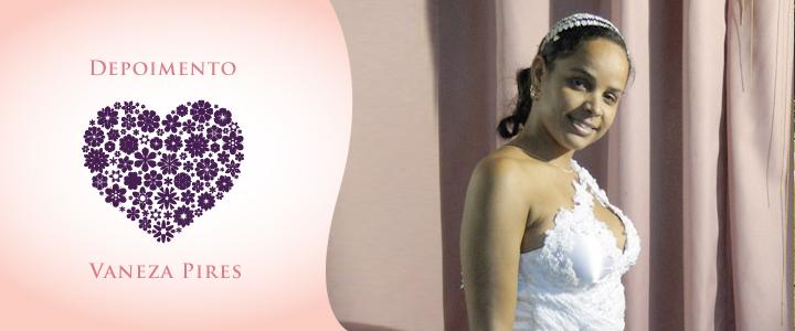 Noiva angolana Vaneza Pires para  Luanda em seu casamento.