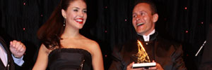 Juarez Fernandes e Paloma Bernardi recebem Prêmio Super Cap